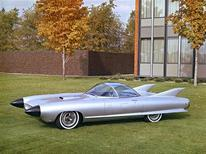The 1959 Cadillac Cyclone concept car is pictured in this undated handout photo received by Reuters August 9, 2012. REUTERS/General Motors/Handout