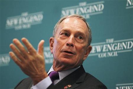 New York City Mayor Michael Bloomberg speaks at the ''The Economics and Politics of Immigration'' Forum in Boston, Massachusetts August 14, 2012. REUTERS/Jessica Rinaldi