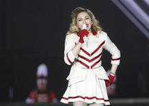 U.S. singer Madonna performs during a concert at the Telenor Arena just outside Oslo August 15, 2012. REUTERS/Fredrik Varfjell/NTB Scanpix