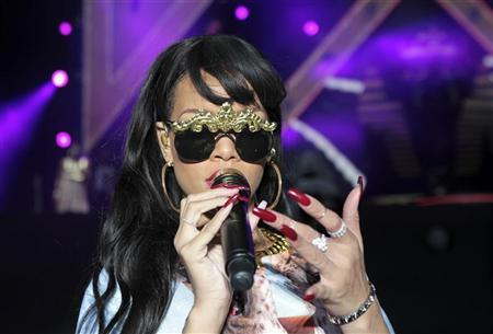 Rihanna performs at the Hackney Weekend festival at Hackney Marshes in east London, June 24, 2012. REUTERS/Olivia Harris