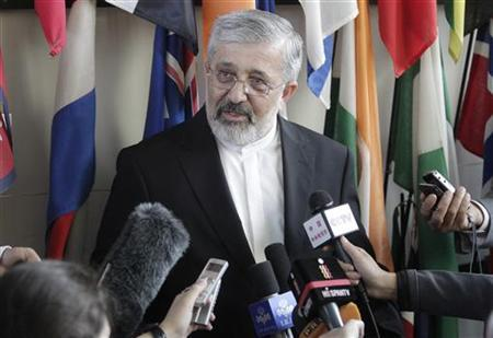 Iran's International Atomic Energy Agency (IAEA) ambassador Ali Asghar Soltanieh attends a news conference after talks at the U.N. headquarters in Vienna June 8, 2012. REUTERS/Herwig Prammer