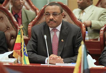 Hailemariam Desalegn attends the Joint Political Committee meeting between Sudan and Ethiopia in Khartoum December 24, 2011. REUTERS/ Mohamed Nureldin Abdallah