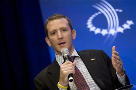 Doug Ulman, CEO of the Lance Armstrong Foundation speaks during a discussion regarding initiatives to combat non-communicable diseases at the Clinton Global Initiative in New York, September 21, 2011. REUTERS/Allison Joyce