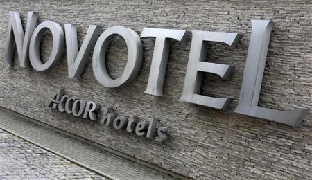 A logo of Novotel hotel part of Accor, Europe's largest hotel group is seen in Warsaw July 10, 2012. REUTERS/Kacper Pempel
