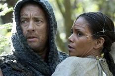 """Actors Tom Hanks (L) and Halle Berry are shown in a scene from the upcoming Warner Bros film """"Cloud Atlas"""" in this publicity photo released to Reuters August 29, 2012. REUTERS/Jay Maidment/Warner Bros Pictures/Handout"""