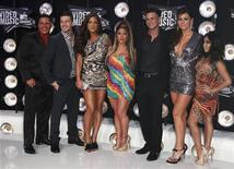 """Cast members of the television program """"Jersey Shore"""" arrive at the 2011 MTV Video Music Awards in Los Angeles, August 28, 2011. REUTERS/Danny Moloshok"""