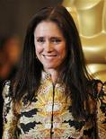 """Former director of the musical """"Spider-Man: Turn Off the Dark"""" Julie Taymor poses at the Academy of Motion Picture Arts and Sciences' 2011 Governors Awards in Hollywood, California November 12, 2011. REUTERS/Danny Moloshok"""
