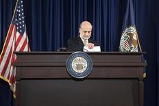 U.S. Federal Reserve Chairman Ben Bernanke arrives for a news conference at the Federal Reserve in Washington, June 20, 2012. REUTERS/Jonathan Ernst