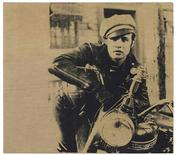 "An Andy Warhol silkscreen of actor Marlon Brando, ""Marlon,"" a 1966 silkscreen, is shown in this Christie's handout image on September 5, 2012. REUTERS/Christie's/Handout"
