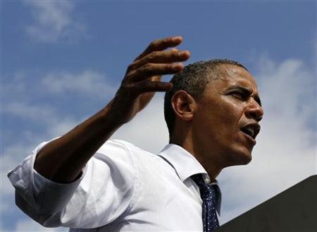 9月7日、ロイターとイプソスが実施した最新の世論調査によると、11月6日の米大統領選に向け、オバマ大統領(民主党)の支持率が共和党の候補、ミット・ロムニー前マサチューセッツ州知事を再び上回った。写真はオバマ大統領(2012年 ロイター/Larry Downing)