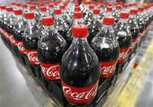 Bottles of Coca-Cola are seen at the Swire Coca-Cola facility in Draper, Utah March 9, 2011. REUTERS/George Frey