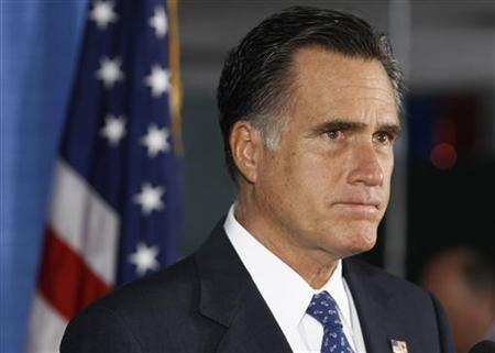 U.S. Republican presidential nominee and former Massachusetts Governor Mitt Romney makes remarks on the attack on the U.S. consulate in Libya, in Jacksonville, Florida September 12, 2012. REUTERS/Jim Young