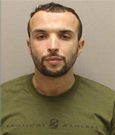 Amine El Khalifi is pictured in this police photograph released to Reuters February 21, 2012. REUTERS/U.S. Marshals Service/Handout