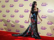 Singer Katy Perry arrives for the 2012 MTV Video Music Awards in Los Angeles, September 6, 2012. REUTERS/Danny Moloshok