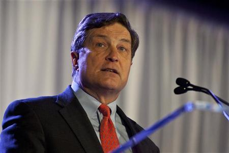 Richmond Federal Reserve Bank President Jeffrey Lacker speaks during the Charlotte Chamber's Economic Outlook Conference in Charlotte, North Carolina December 19, 2011. REUTERS/Chris Keane
