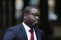 "Former UBS trader Kweku Adoboli arrives at Southwark Crown Court in London September 20, 2012. The culture at Swiss bank UBS when accused ""rogue trader"" Adoboli was working there, was that risk limits could be exceeded as long as the bank was making money, Adoboli's defence lawyer told a London court on Thursday. REUTERS/Stefan Wermuth"
