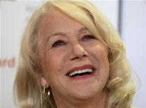 """British actress Helen Mirren attends a news conference during the premiere of the film """"The Door"""" in Budapest, March 7, 2012. REUTERS/Laszlo Balogh"""