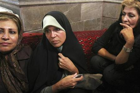 Faezeh Rafsanjani (C), daughter of former Iranian president Akbar Hashemi Rafsanjani, attends a protest at the Ghoba mosque in northern Tehran June 28, 2009. QUALITY FROM SOURCE REUTERS/via Your View