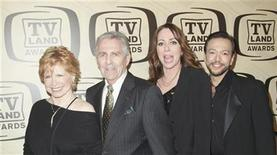 Actors Bonnie Franklin (L to R), Pat Harrington Jr, Mackenzie Phillips and Glenn Scarpelli arrive for the 10th Annual TV Land Awards at the Lexington Avenue Armory in New York April 14, 2012. REUTERS/Andrew Kelly