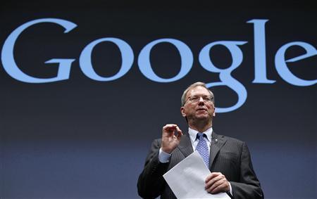 Google Executive Chairman Eric Schmidt speaks at a promotional event for the Nexus 7 tablet in Tokyo September 25, 2012. REUTERS/Kim Kyung-Hoon