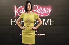 """Cast member and singer Katy Perry poses during a photocall before the premiere of """"Katy Perry: Part of Me"""" in Rio de Janeiro July 30, 2012. REUTERS/Ricardo Moraes"""