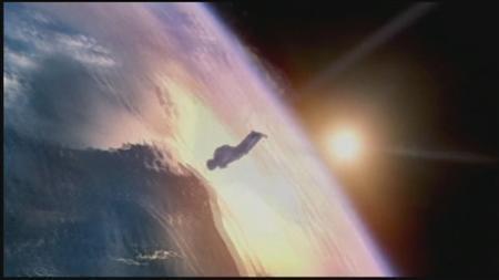9月25日、スカイダイバーのオーストリア人男性が、10月8日に地上約3万7000メートルと史上最も高い高度からのダイビングに挑戦することが決まった。写真は同挑戦を説明するアニメ映像の一コマ。(2012年 ロイター/RED BULL/ReutersTV)