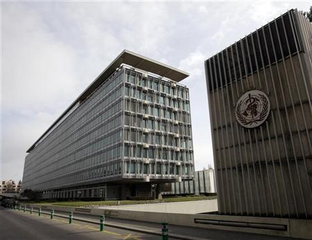 The World Health Organization (WHO) headquarters is seen in Geneva November 9, 2009. REUTERS/Denis Balibouse