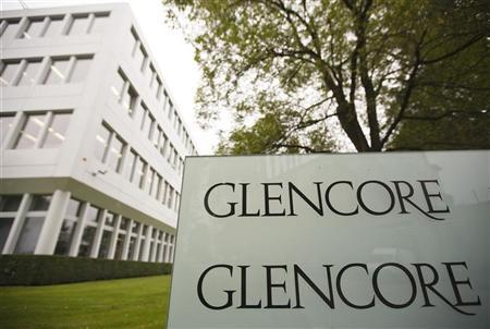 The logo of Glencore is seen in front of the company's headquarters in the Swiss town of Baar September 7, 2012. REUTERS/Michael Buholzer