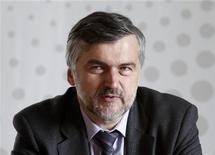 Замминистра экономического развития Андрей Клепач на Саммите Рейтер в Москве, 27 сентября 2012 г. Потребительский спрос останется основным драйвером роста российской экономики в 2013 году, а его постепенное затухание после всплеска в год масштабных предвыборных трат должен компенсировать рост инвестиций, в который Минэкономики верит, несмотря на ужесточение денежно-кредитной и бюджетной политики. REUTERS/Reuters Staff