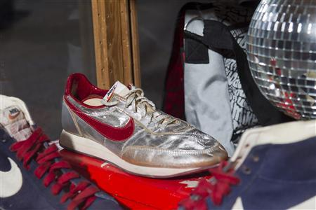 A Nike disco shoe is pictured at the ''ShoeZeum'' in downtown Las Vegas, Nevada September 25, 2012. REUTERS/Steve Marcus