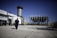 An employee walks at Bulgartransgaz gas compressor station near the town of Provadia, some 410km (255miles) north-east of Sofia September 30, 2012. REUTERS/Stoyan Nenov