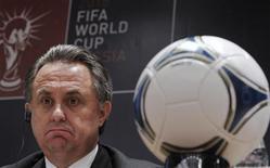Ministro dos Esportes russo, Vitaly Mutko, comparece a coletiva de imprensa em Moscou. A Rússia planeja gastar quase 20 bilhões de dólares para sediar a Copa do Mundo de 2018, disse o ministro dos Esportes russo, Vitaly Mutko, neste domingo. 30/09/2012 REUTERS/Maxim Shemetov