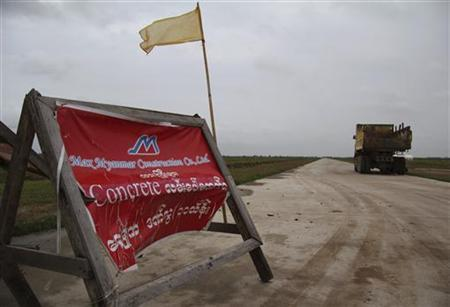 Land around the planned special economic zone named Thilawa to be developed by a Japan-Myanmar joint venture is seen in outskirt of Yangon July 31, 2012. Picture taken July 31, 2012. REUTERS/Antoni Slodkowski