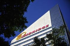 The Enbridge Tower is pictured on Jasper Avenue in Edmonton in this August 4, 2012, file photo. REUTERS/Dan Riedlhuber/Files