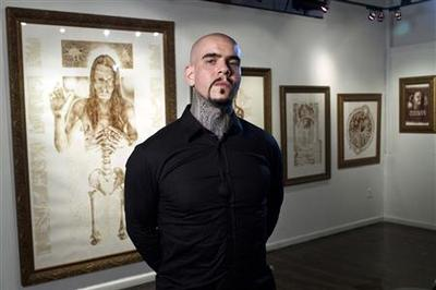 "Using his own blood, New York artist paints ""Resurrection"" exhibit"