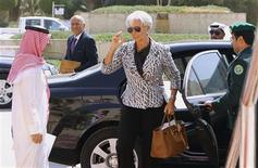 International Monetary Fund (IMF) Managing Director Christine Lagarde arrives for the Gulf Cooperation Council (GCC) Finance Ministers meeting in Riyadh October 6,2012. REUTERS/Fahad Shadeed (SAUDI ARABIA - Tags: POLITICS BUSINESS)