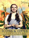 "Judy Garland is seen in movie classic ""The Wizard of Oz"" on the cover of a catalogue from Julien's Auctions received by Reuters October 8, 2012. The blue-and-white dress which Garland wore throughout the 1939 film will be sold next month at Julien's Auctions in Beverly Hills, where it is expected to sell for more than a half a million dollars, auctioneers said on Monday. REUTER/Julien's Auctions/Handout"