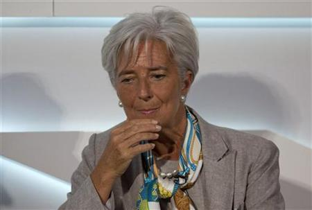 Managing Director of the International Monetary Fund (IMF) Christine Lagarde speaks at the Global Investment Conference 2012 in London July 26, 2012. REUTERS/Neil Hall