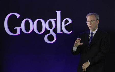 Google Executive Chairman Eric Schmidt speaks at a promotional event for the Nexus 7 tablet in Seoul September 27, 2012. REUTERS/Kim Hong-Ji