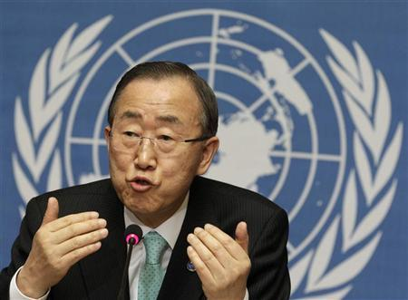 U.N. chief finds his voice, but remains cautious on China