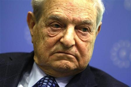 Soros Fund Management Chairman George Soros waits to deliver a speech at the Central European University in Budapest, November 3, 2011. REUTERS/Bernadett Szabo