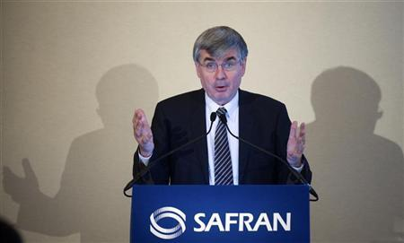 Jean-Paul Herteman, Chief Executive of French aerospace group Safran, speaks during the company's 2009 annual results presentation in Paris February 25, 2010. REUTERS/Gonzalo Fuentes