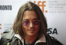 "Actor Johnny Depp poses at the gala presentation for the film ""West of Memphis"" at the 37th Toronto International Film Festival September 8, 2012. REUTERS/Brett Gundlock"