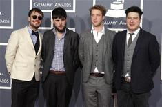 British folk rock band Mumford & Sons arrive at the 54th annual Grammy Awards in Los Angeles, California February 12, 2012. REUTERS/Danny Moloshok