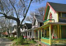 A general view of gingerbread cottages in the Martha's Vineyard Campmeeting Association, Oak Bluffs, Massachusetts in this undated handout photo provided to Reuters October 18, 2012. Although the island of Martha's Vineyard is a summer resort, much of what the island has to offer is enjoyable and accessible in early autumn after the summer hoards have gone. The cottages are a National Historic Landmark District. REUTERS/Martha's Vineyard Chamber of Commerce/Handout