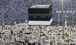 Muslim pilgrims circle the Kaaba and pray at the Grand mosque during the annual haj pilgrimage in the holy city of Mecca October 22, 2012, ahead of Eid al-Adha which marks the end of haj. REUTERS/Amr Abdallah Dalsh