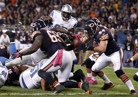 Bears' defense feasts on Lions