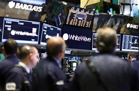 Traders await the opening of WhiteWave Foods on the floor of the New York Stock Exchange, October 26, 2012. REUTERS/Brendan McDermid