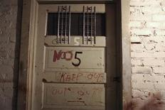 Most of the doors in the basement of the Gadsden Hotel are labelled for staff and guests who are visiting or ghost hunting inside the hotel in Douglas, Arizona, October 29, 2012. While many hotels in the United States claim ghosts, staff and guests at the Gadsden have recorded scores of supernatural encounters from the top floor right down to the maze-like basement - not just at Halloween, but year round. Picture taken October 29, 2012. REUTERS/Samantha Sais