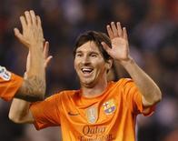 Jogador argentino Lionel Messi tornou-se pai aos 25 anos de idade nesta sexta-feira em Barcelona. 20/10/2012. REUTERS/Miguel Vidal